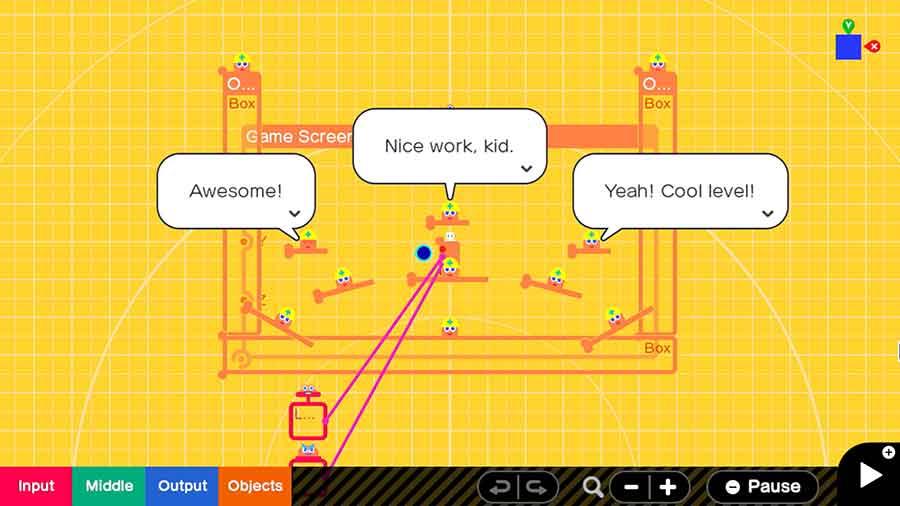 Game Builder Garage permite crear videojuegos con lecciones didácticas para niños y adultos. Foto: Nintendo